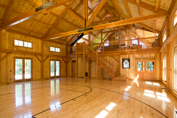 23 of the most amazing unique basketball courts you will for Indoor residential basketball court